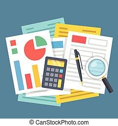 Paperwork, financial analysis