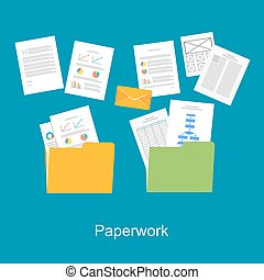 paperwork, icon., documentos