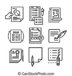 paperwork icon set vector illustration design