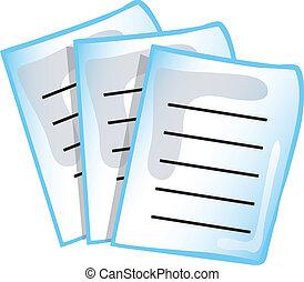 paperwork, ikona
