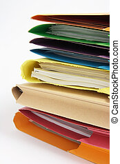 Paperwork in Folders - Close Up of Paperwork in Folders