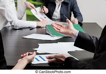 Paperwork in office