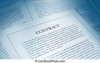 paperwork, kontrakt