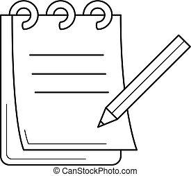 Paperwork line icon.