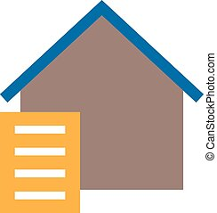 Paperwork, paper, signing icon vector image. Can also be ...