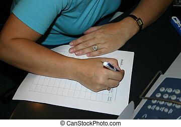 paperwork - Paperwork being completed