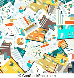 Paperwork Vector Flat Background