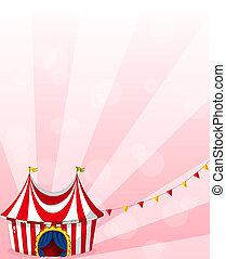 papeterie, cirque, conception, tente