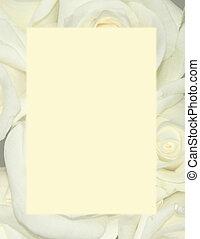 papeterie, roses, -, fond jaune