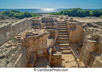 paphos, 博物館, 考古学的, キプロス