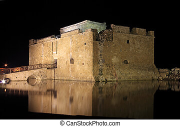 Paphos Castle at Night