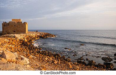 Paphos Castle - Famous medieval castle at Paphos in Cyprus.