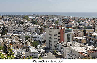 Paphos cityscape in Cyprus