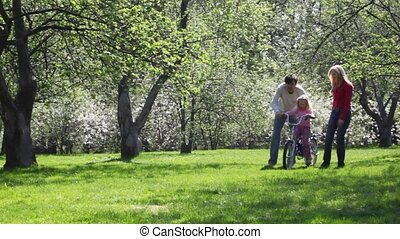 papież, i, mama, ewidencja, dziewczyna, na, rower
