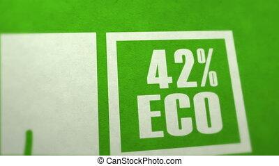 papier, écologie, croissant, plante