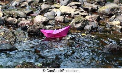papier, 1, bateau, rivière, episode
