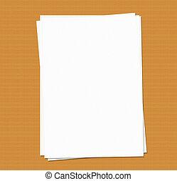 papier, a4, vide