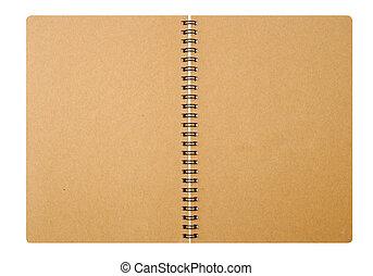 papier, aantekenboekje, voorst dekken, af)knippen, path.