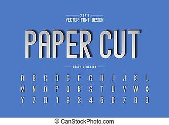 papier, achtergrond, knippen, grafisch, tekst, ontwerp, lettertype, alfabet, vector, getal, kunst, lettertype, brief