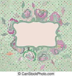 papier, achtergrond, met, roses., eps, 8