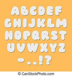 papier, alfabet, witte , lettertype, stijl