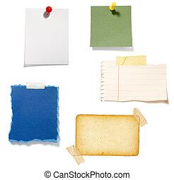 papier, arrière-plan brun, vieux, note