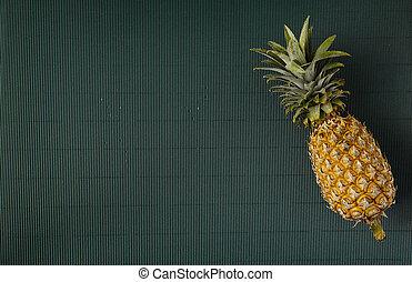 papier, arrière-plan vert, ananas