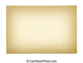 papier, ausschnitt, altes , hintergrund, freigestellt, path., weißes