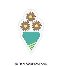 bouquet arri re plan fleurs blanches narcisse clipart vectoriel rechercher illustration. Black Bedroom Furniture Sets. Home Design Ideas