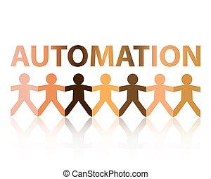 papier, automation, gens