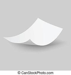 papier baisse, sheet.