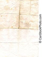 papier, bevlekte, oud, textuur