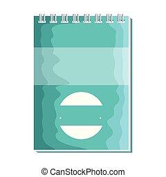 papier, bloc-notes, isolé, icône