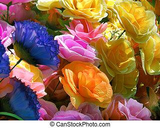 papier, bloemen