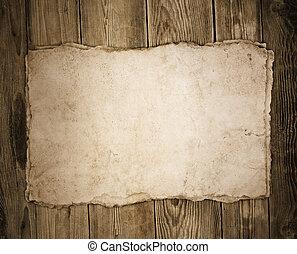 papier, bois, vieux, fond
