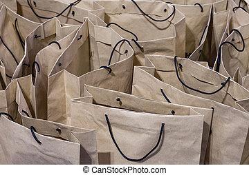 papier brun, sacs provisions