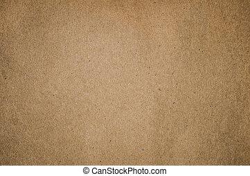 papier brun, textured, fond, vide