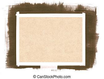 papier, brushstrokes, achtergrond
