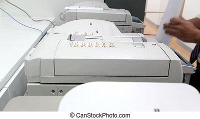 papier, bureau, homme, machine, copie, utilisation