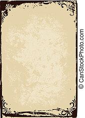 papier, cadre, texture