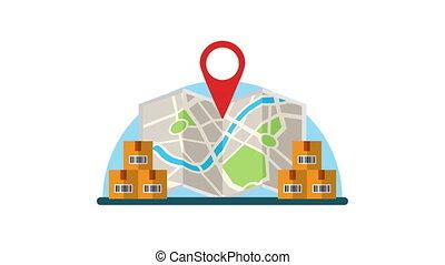 papier, carte, logistique, service, boîtes