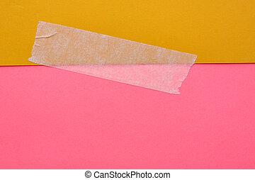 papier, cassette, het verbloemen