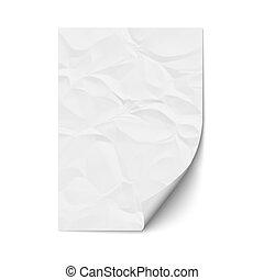 papier chiffonné, feuille
