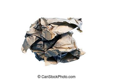 papier chiffonné