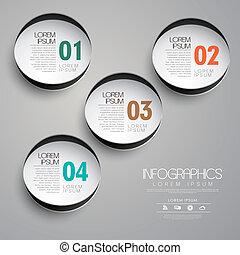 papier, cirkel, infographic, communie, etiket