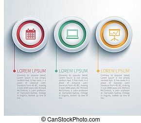 papier, cirkel, infographic