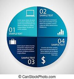 papier, cirkel, infographics
