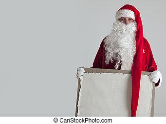 papier, claus, vendange, santa