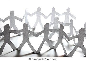 papier, collaboration, équipe