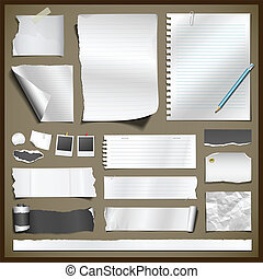 papier, collections, blanc